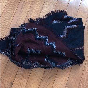 Wilfred diamond mosaic blanket scarf